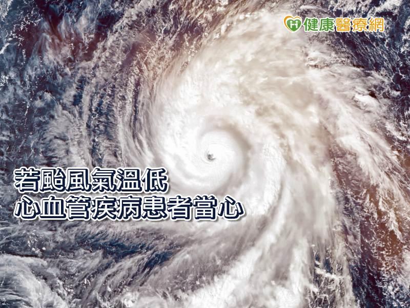 颱風來襲氣候濕冷 醫:留意心臟病發徵兆